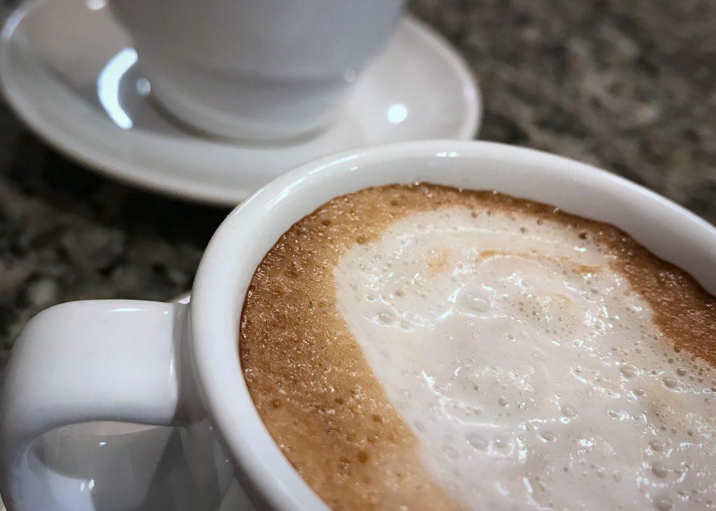 Espresso with Vanilla Coconut Milk