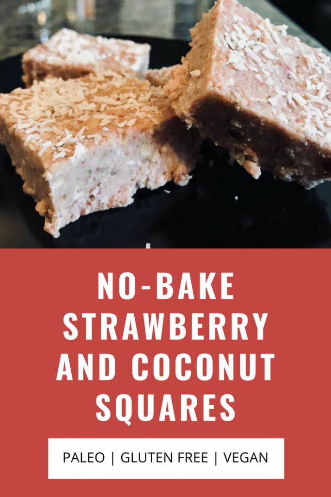 No-Bake Strawberry and Coconut Squares