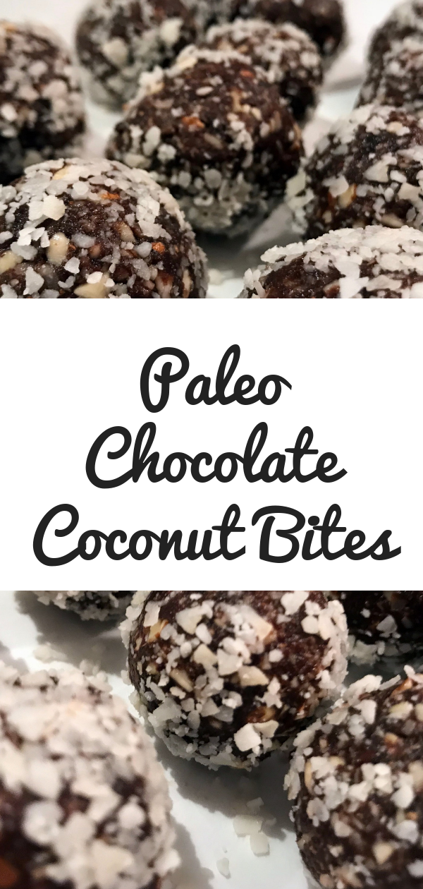 Paleo Chocolate Coconut Bites